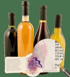 葡萄酒纹理标签