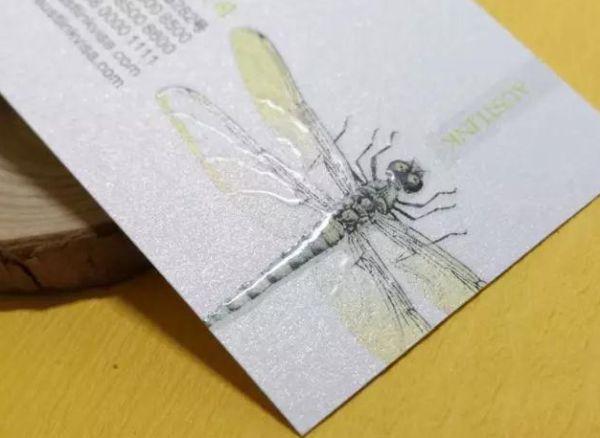 运用3D立体UV技术将蜻蜓的脊背呈现出立体效果