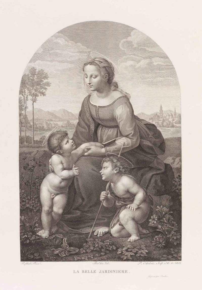 铜版画《美丽园丁》